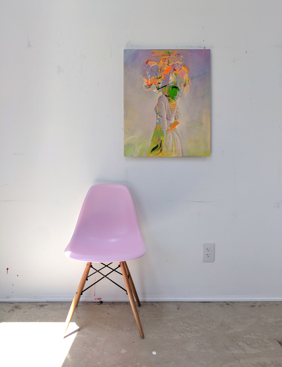 CONT/Animate sharing some love with a pink Eames chair